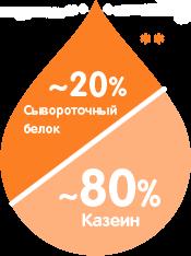 20% Сывороточный белок/80% Казеин