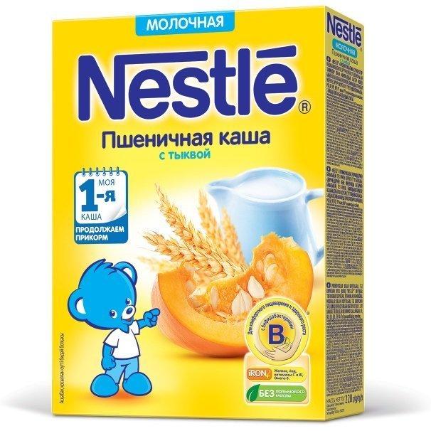 3eb04ae53784e7 Nestlé Молочная пшеничная каша с тыквой
